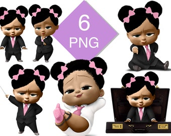 Digital Girl With Puffs Boss Baby Style 5 Sizes Embroidery