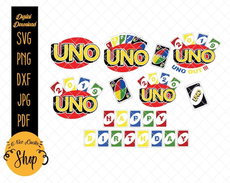 Uno Svg Png Uno Birthday Uno Print Uno Vector Uno Party Etsy