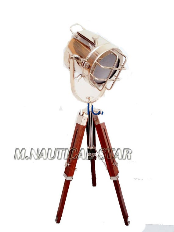 CLASSIC DESIGNERS LAMP SPOTLIGHT SEARCHLIGHT WITH TRIPOD  STAND ROYAL DECORATIVE