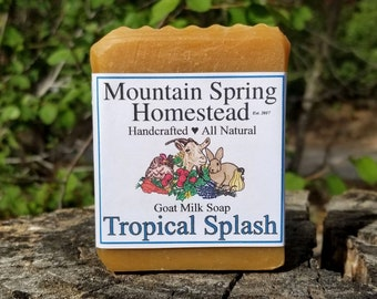 Tropical Splash Goat Milk Soap