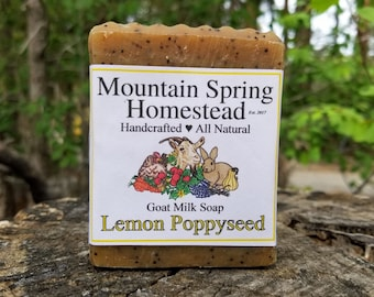 Lemon Poppyseed Goat Milk Soap - Natural Soap