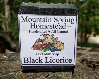 Black Licorice Goat Milk Soap - Activated Charcoal Soap - Anise Essential Oil