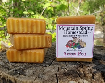 Sweet Pea Goat Milk Soap - 4pk