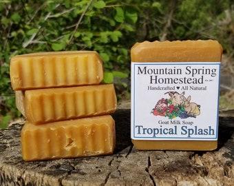 Tropical Splash Goat Milk Soap - 4 Pack