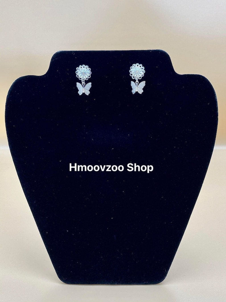 Money 2Second Sliver Hmong Butterfly Earrings