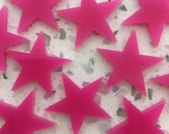 5x star outline acrylic charm/pendants/jewellery making/craft's/laser cut Cabochon