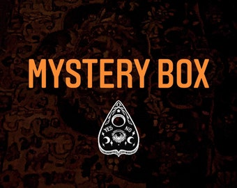MYSTERY BOX-occult-candles-wax melts-herbal-botanical-sachet-protection-spell-moon-vegan soap
