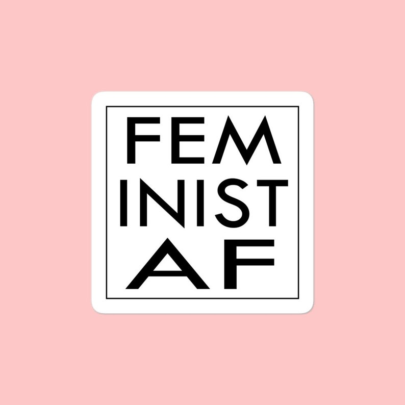Pink hat STICKER VINYL DECAL WOMEN NASTY RIGHTS FEMINIST WE CAN DO IT EQUALITY