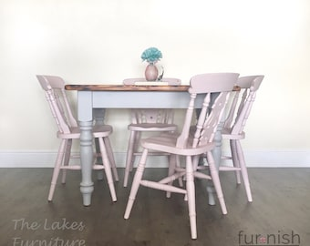 Stupendous Shabby Chic Dining Table Etsy Download Free Architecture Designs Scobabritishbridgeorg