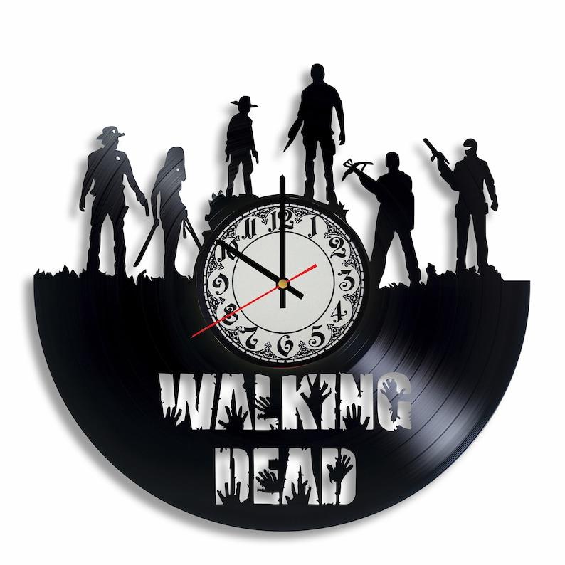 The Walking Dead vinyl record wall clock The Walking Dead image 0