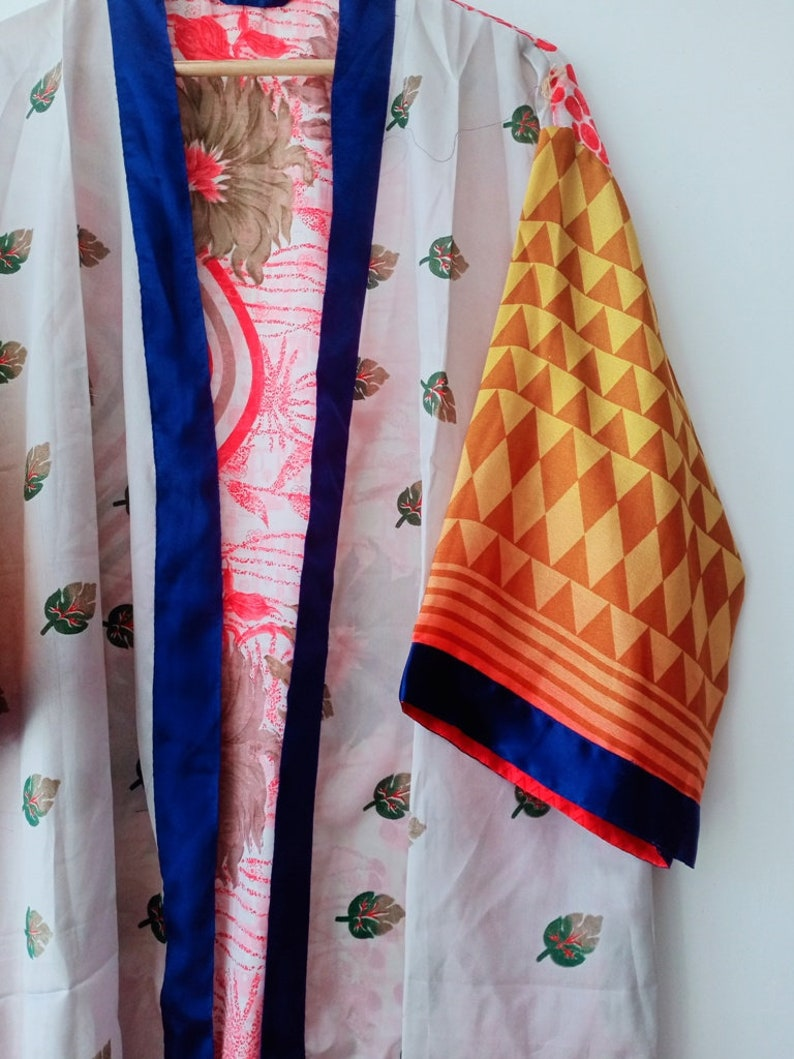 Silk Kimono Robe,Double pocket,Beach dress,Dressing gown,Vintage kimono,Bridesmaid robes,Boho,Bridal Robe,gifts Kimono Dragon At-221