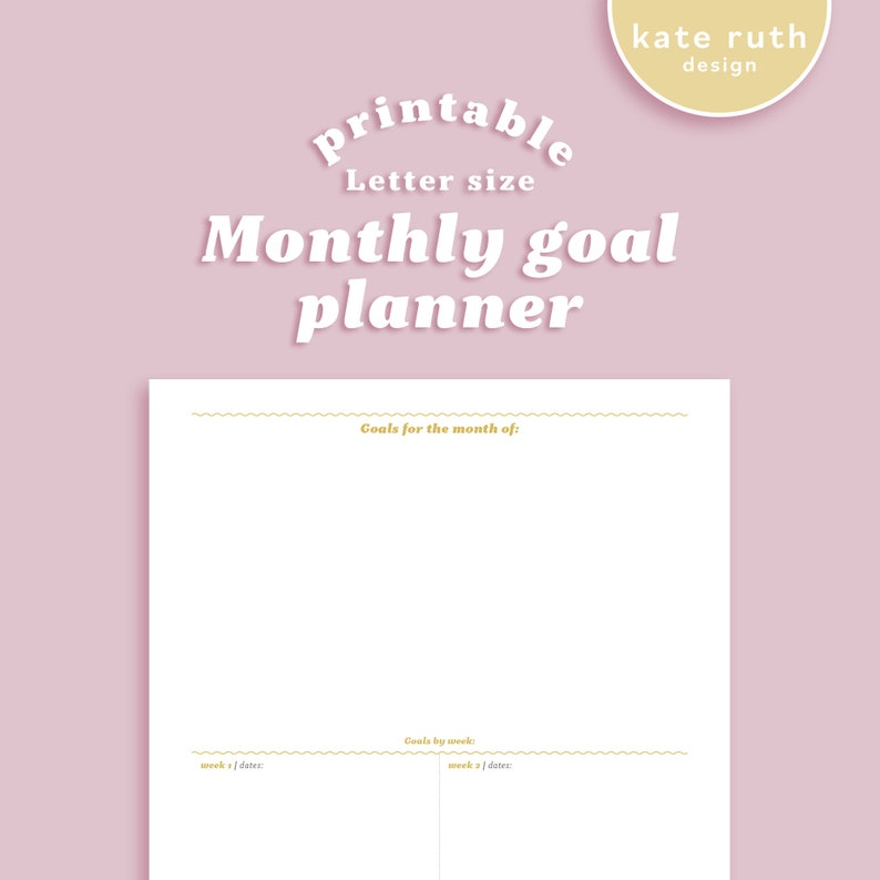 Monthly Goal Planner Printable image 0