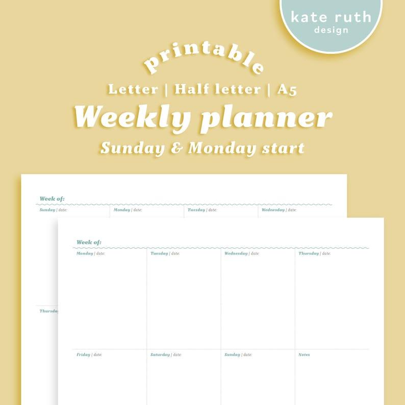 Weekly Planner Printable image 0