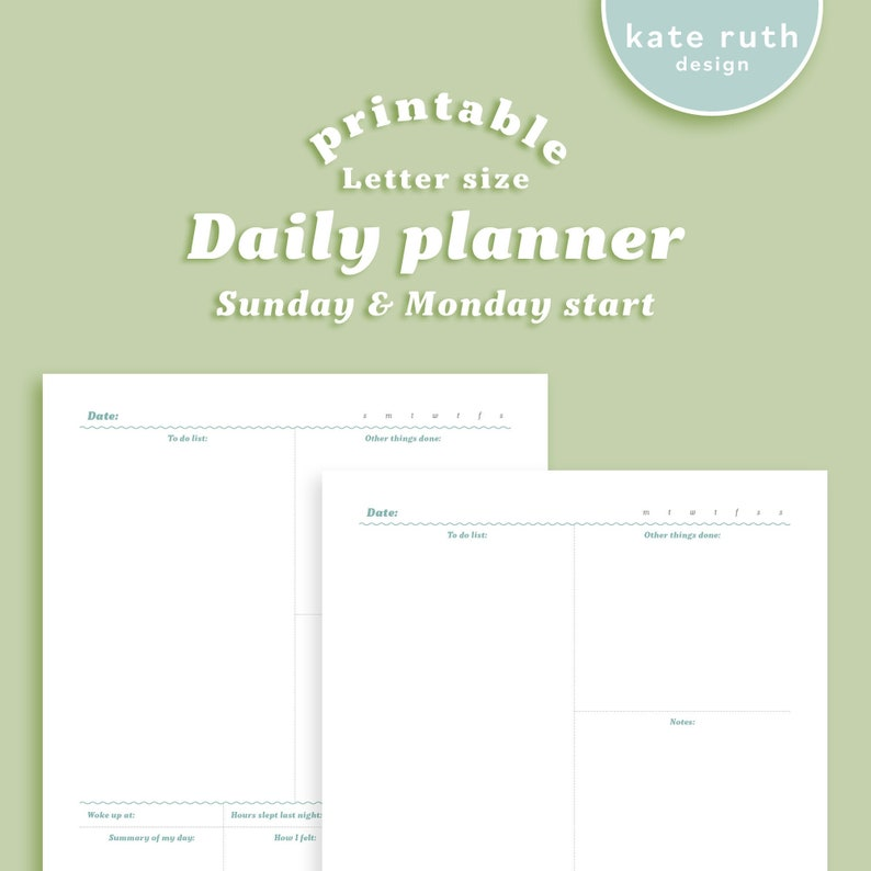 Daily Planner Printable image 0