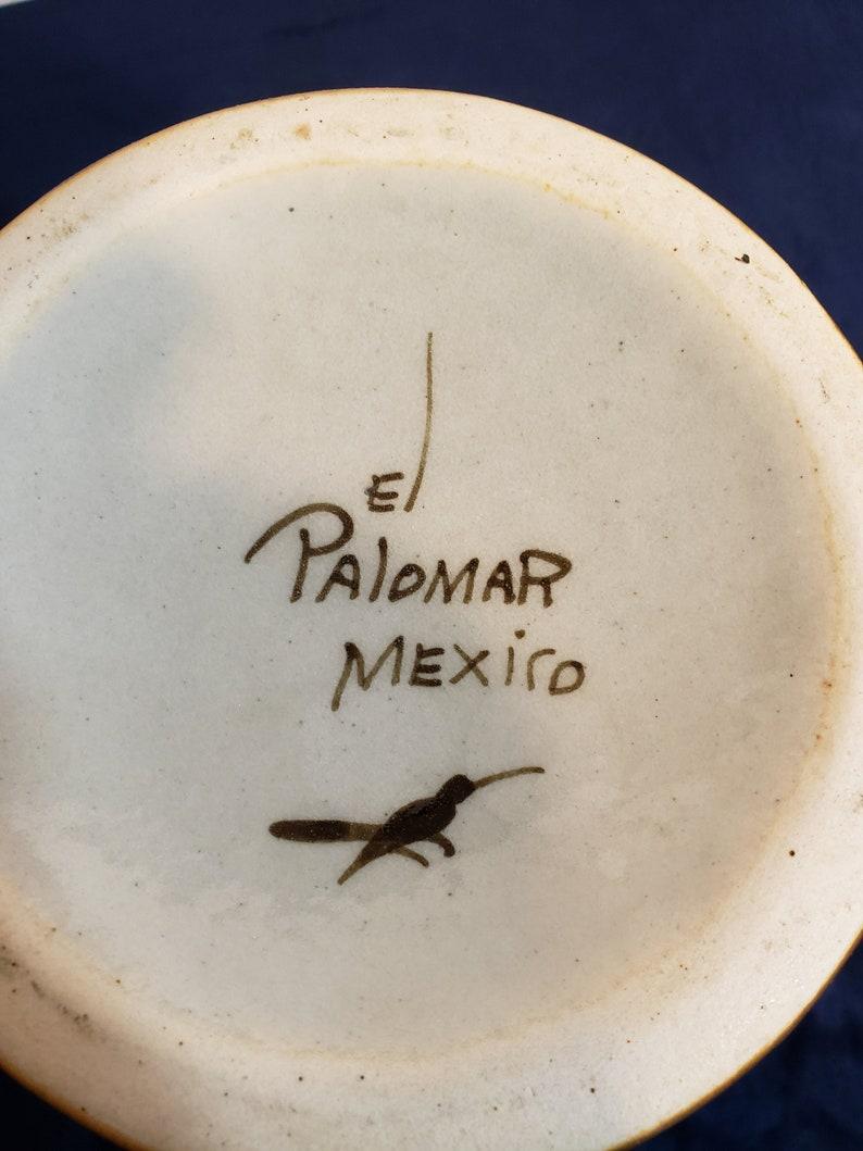 Vintage Tonala Ken Edwards El Palomar Stoneware JugBottle with CorkCeramic Stopper-Blue Butterfly /& Bird  Motif