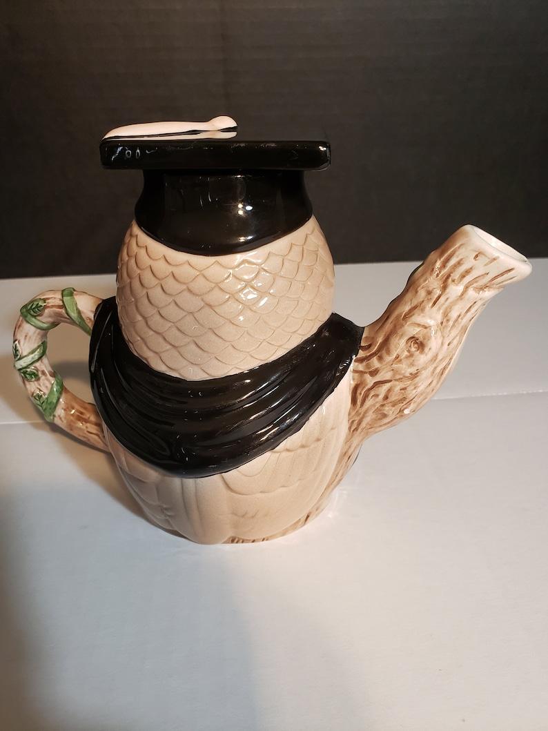 Vintage Andrea By Sadek Owl Teapot Wearing Graduation Cap