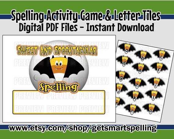 Printable Spelling Game Spelling Words Spelling Activity