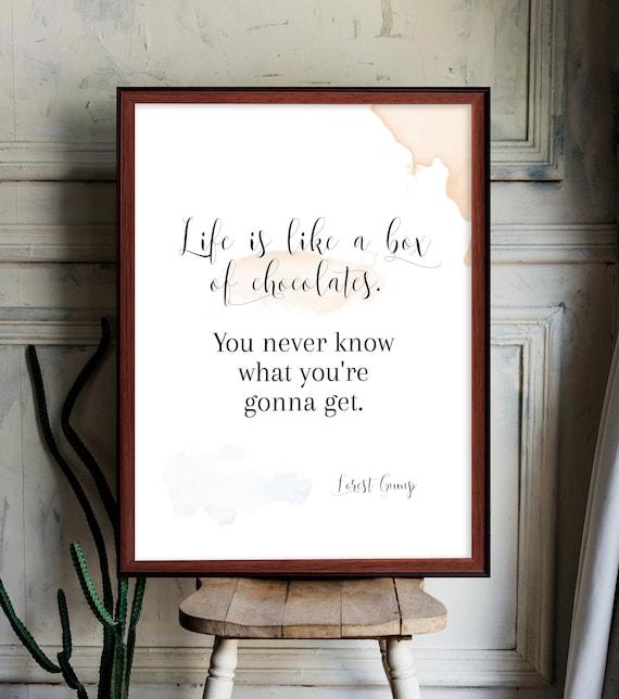 Pralinen schachtel wie leben ist das eine Das Leben