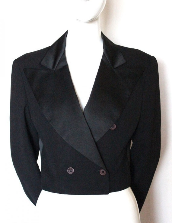 Vintage 1980s STEPHEN SPROUSE Cropped Tuxedo Style