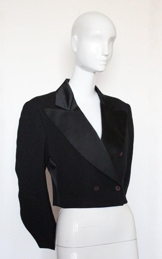 Vintage 1980s STEPHEN SPROUSE Tuxedo Style Cropped