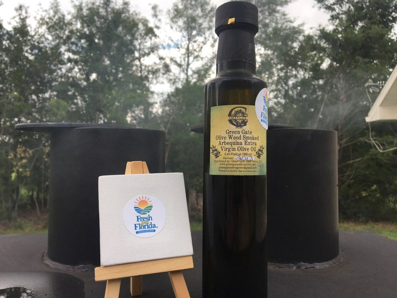 Olive Wood Smoked Arbequina Evoo 250ml FREE SHIPPING OVER 35 image 0