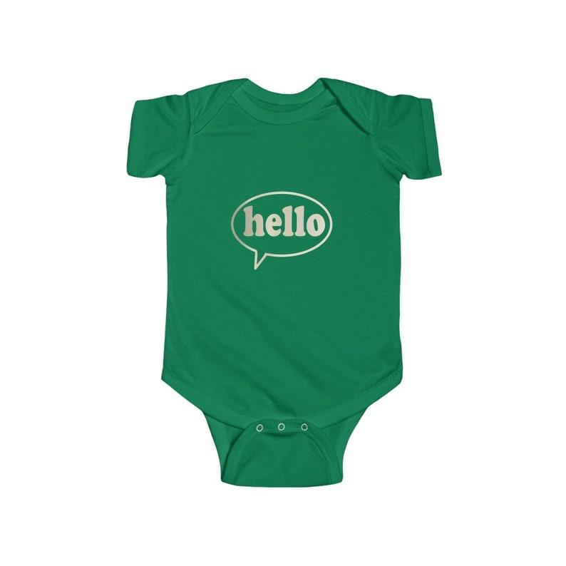Hello Baby Onesie Hello Onesie Baby Onesie Baby Clothing Infant Clothing Hello Saying
