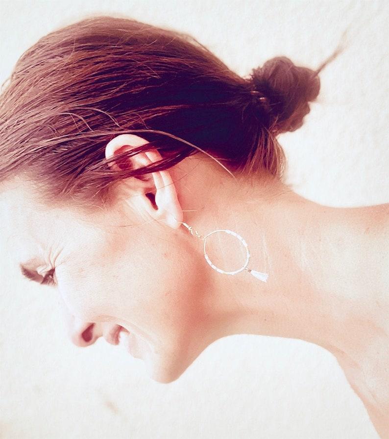 BOHO LOOPS Tassel Earrings Miyuki 18 k gold plated Summer Style Glass beads Creole