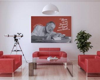 Citaten Hemingway : Hemingway poster etsy