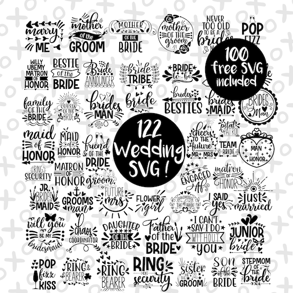 Wedding Svg Bride Svg Wedding Svg Files Bridesmaid Svg Mr Etsy