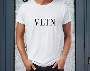 ba34a39a4 Valentino Tshirt, VLTN Shirt, Unisex T Shirt, Hand Printed Tee Tshirt For  Man And Women Shirt Inspired Trendy Unisex Adult