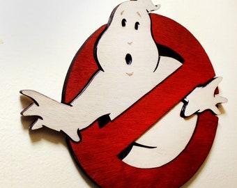 Ghostbusters Logo - Wood Cut - Multi Layered - Wall Art