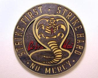 Cobra Kai Dojo - Karate Kid / Cobra Kai - Wood Carved Sign