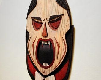 Dracula - Monster Tiki - Tiki - Carved Wood Wall Art