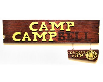 Camp Campbell - Camp Camp - Wood Carved Sign
