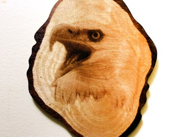 The Eagle - Wood Carved - Laser Engraved