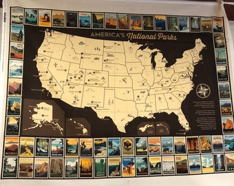 National Parks Map Panel