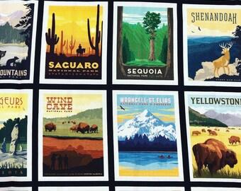 National Parks Posters, Black
