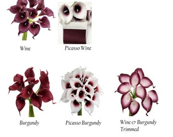 Burgundy Calla Lily Etsy