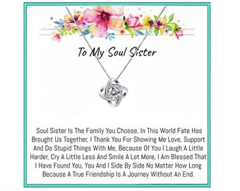 Soul Sister Necklace, Soul sister gifts, Soul sister, BFF,  best friend necklace, Bff necklace, best friend birthday gifts, Best Friend Gift