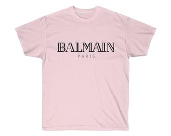 c24504d9 Balmain T-shirt, Balmain Paris Shirt, Balmain Mens Womens Kids, Balmain  Unisex Shirt, Balmain Inspired, Designer