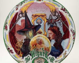 ToTo Melamine Plate Tin Man Frank Baum Wizard Of OZ Kitchen 10 plate Red Illustration Dorothy decorative plate Dinner Plate