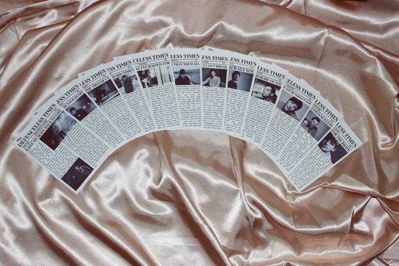 Small Louis Tomlinson Walls Album Lyric Newspaper Inspired Prints
