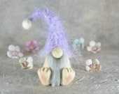 Felted gnome - Purple gnome - 3 quot gnome doll