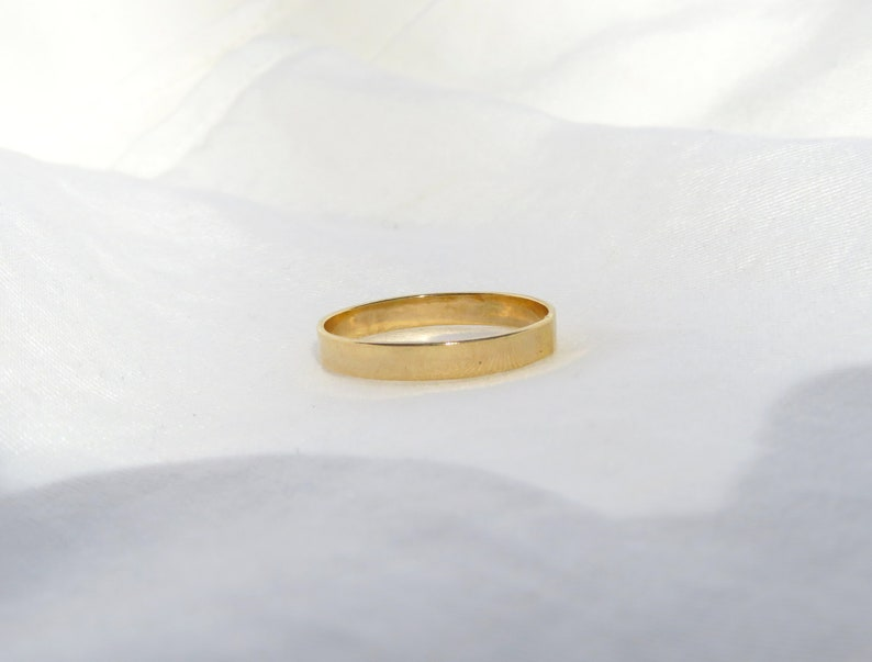 Gold Gold Ring Stacking Ring Simple Gold Ring 14k Gold Filled Ring Wedding Band Thick Gold Ring Thick Ring Gold Stack Ring