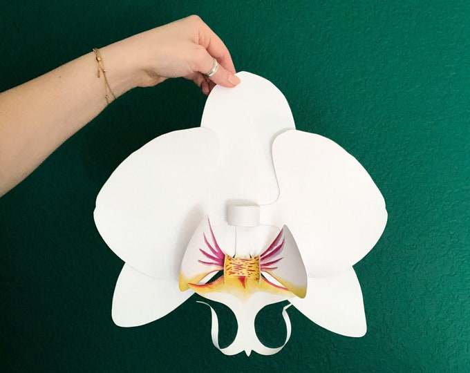 Orchid DIY Paper Flower | Home, Wedding, Bridal and Baby Shower | Large Floral Paper Decor