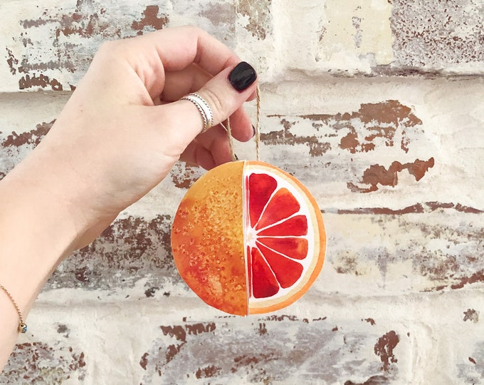 Christmas Ornament Paper DIY Kit Orange Citrus Fruit