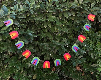 Rainbow Garland DIY   St. Patrick's Day, Easter, Spring, LGBTQ Pride Paper Bunting Banner Flag