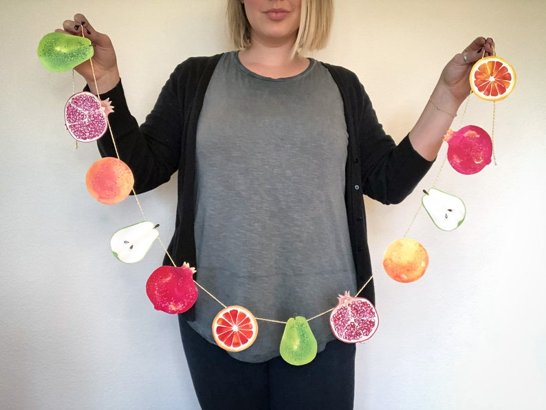 Thanksgiving Garland DIY Paper Craft  Orange Citrus Fruit image 0