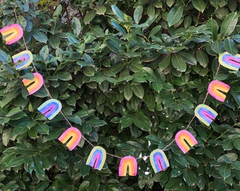 Rainbow Garland DIY in Pastel | St. Patrick's Day, Easter, Spring, LGBTQ Pride Paper Bunting Banner Flag