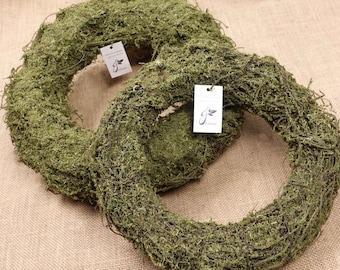 Natural Dried Green Moss Wreath 25cmD, 30cmD | Natural Wreath Base | Wall Door Hanging | DIY Flower Arranging | Home Decor